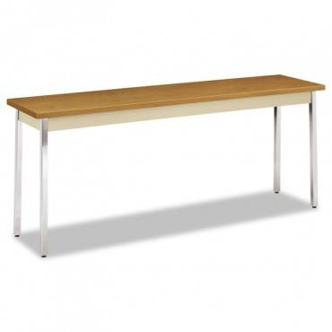 Utility Table, Rectangular, 72w X 18d X 29h, Harvest/putty