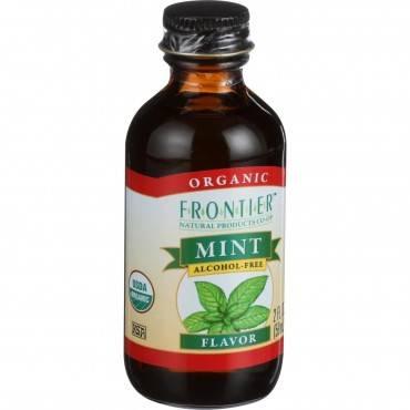 Frontier Herb Mint Flavor - Organic - 2 oz