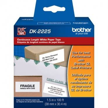 Brother DK2225 - Black on White Continuous Length Paper Labels (RL/ROLL)
