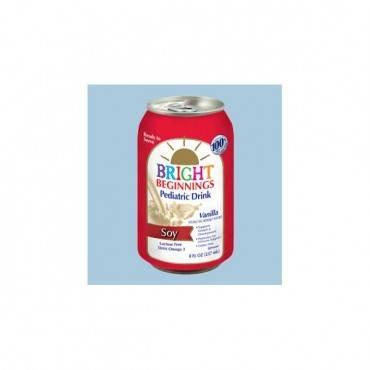Bright Beginnings Soy Pediatric Nutritional Vanilla Drink, 8 Oz. Part No. 3680008004 (1/ea)