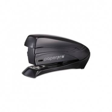Inspire Spring-powered Half-strip Compact Stapler, 15-sheet Capacity, Black