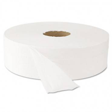 "Jumbo Roll Bath Tissue, Septic Safe, 2 Ply, White, 3.5"" X 2000 Ft, 6 Rolls/carton"