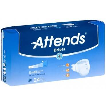 Unisex Adult Incontinence Brief Attendsâ® Tab Closure Small Disposable Heavy Absorbency(96/ca)
