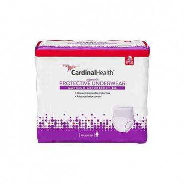"""Cardinal Maximum Absorbency Protective Underwear For Women, Large, 45 - 58"""", 130 - 230 Lbs. Part No. Uwflg18 (18/package)"""