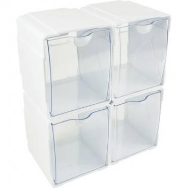 Deflecto Tilt Bin Interlocking Storage Organizer (BX/BOX)