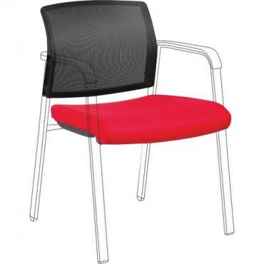 Lorell Stackable Chair Mesh Back/Fabric Seat Kit (EA/EACH)