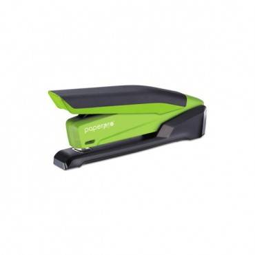 Inpower Spring-powered Desktop Stapler, 20-sheet Capacity, Green