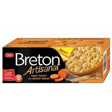 Breton/dare - Artisanal Grain Crackers - Sweet Potato - Case Of 6 - 5.29 Oz.