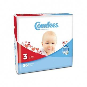 Comfees Baby Diapers - Size 3 (36/Package)