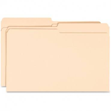 Business Source 1/2-cut Tab Legal Manila File Folders (BX/BOX)