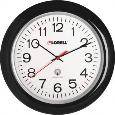 "Lorell 13-1/4"" Radio Controlled Wall Clock (EA/EACH)"