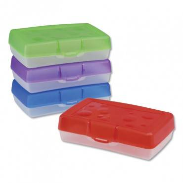 Storex Box,pencil,ast 61605U12C 1 Each