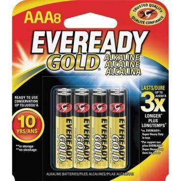 Eveready Gold Alkaline AAA Batteries (PK/PACKAGE)