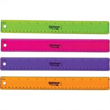 "OIC 12"" Flexible Plastic Ruler (PK/PACKAGE)"