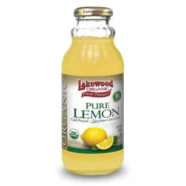 Lakewood Organic Pure Lemon - Lemon - Case of 12 - 12.5 Fl oz.
