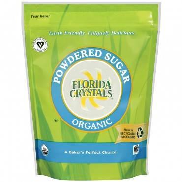 Florida Crystals Organic Powdered Sugar - Sugar - Case Of 25 - 1 Lb.