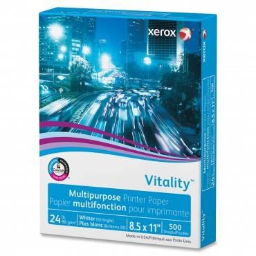 Vitality Multipurpose Print Paper, 92 Bright, 24lb, 8.5 X 11, White, 500/ream