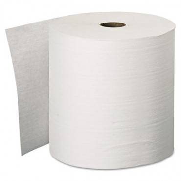 "Essential Plus Hard Roll Towels, 1.5"" Core, 8"" X 600 Ft, White, 6 Rolls/carton"