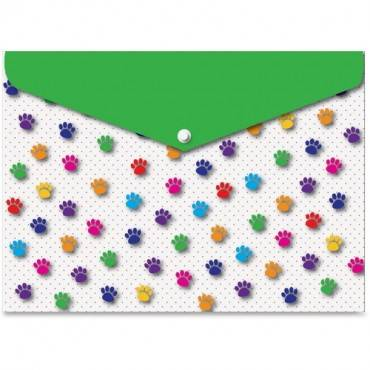 Ashley Pawprints Design Snap Poly Folders (PK/PACKAGE)