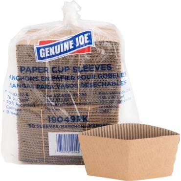 Genuine Joe Protective Corrugated Hot Cup Sleeves (PK/PACKAGE)