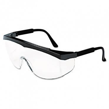 Stratos Safety Glasses, Black Frame, Clear Lens