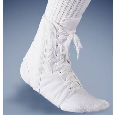 Canvas Lace-up Ankle Brace White Md