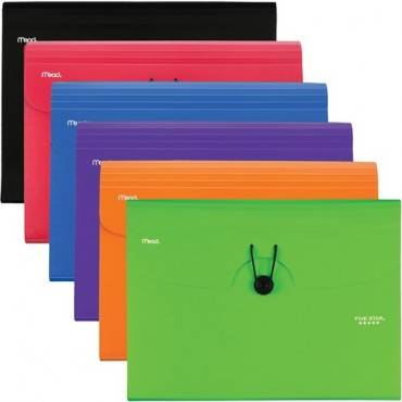 Five Star 6 Pocket Plastic Expanding File (EA/EACH)