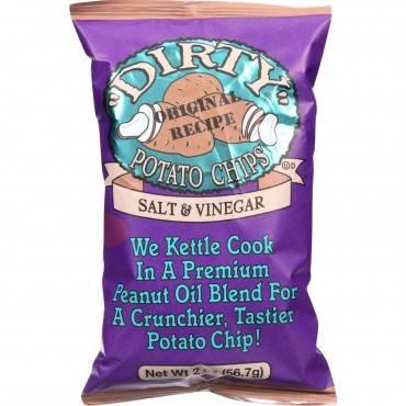 Dirty Chips - Potato Chips - Salt And Vinegar - Case Of 25 - 2 Oz.