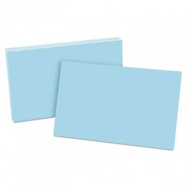 Unruled Index Cards, 5 X 8, Blue, 100/pack