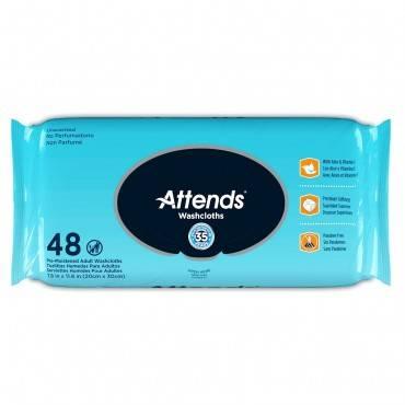 Personal Wipe Attendsâ® Soft Pack Aloe Unscented 48 Count(576/ca)