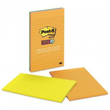 Pads In Rio De Janeiro Colors, Lined, 5 X 8, 45-sheet Pads, 4/pack
