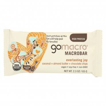 Gomacro Organic Macrobar - Coconut Almond Butter And Chocolate Chips - Case Of 12 - 2.3 Oz.