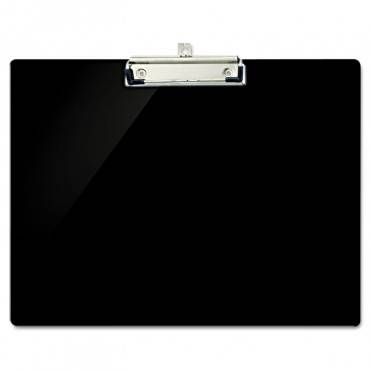 """Recycled Plastic Landscape Clipboard, 1/2"""" Capacity, Black"""