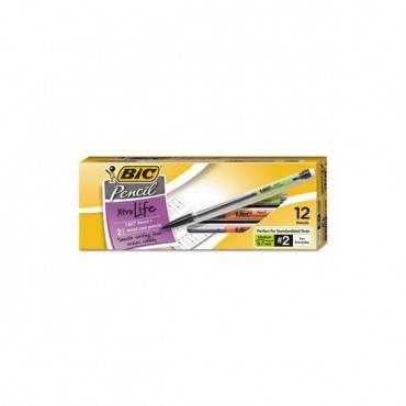 Xtra Smooth Mechanical Pencil, 0.7 Mm, Hb (#2.5), Black Lead, Clear Barrel, Dozen