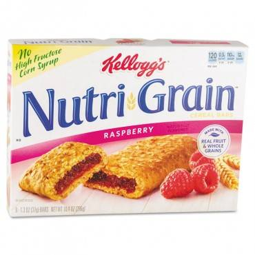 Nutri-Grain Cereal Bars, Raspberry, Indv Wrapped 1.3oz Bar, 16/box