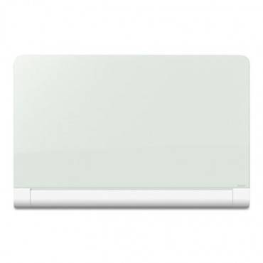 Horizon Magnetic Glass Marker Board With Hidden Tray, 50 X 28, White