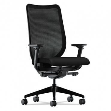 Nucleus Series Work Chair, Black Ilira-stretch M4 Back, Black Seat