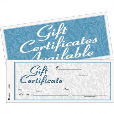 Adams Two-part Carbonless Gift Certificates (PK/PACKAGE)