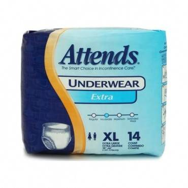 """Attends Adult Extra Absorbency Protective Underwear X-large 58"""" - 68"""" Part No. Ap0740100 (100/case)"""
