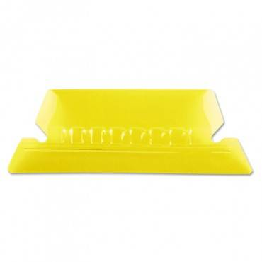 """Transparent Colored Tabs For Hanging File Folders, 1/5-cut Tabs, Yellow, 2"""" Wide, 25/pack"""