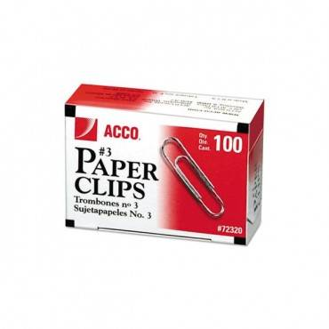 Paper Clips, Small (no. 3), Silver, 1,000/pack
