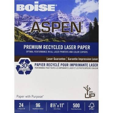 Aspen Premium Laser Paper, 96 Bright, 24lb, 8.5 X 11, White, 500/ream