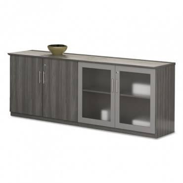 Medina Series Low Wall Cabinet With Doors, 72w X 20d X 29 1/2h, Gray Steel, Box2