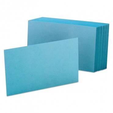 Unruled Index Cards, 4 X 6, Blue, 100/pack