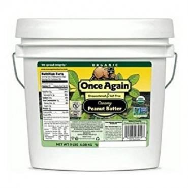 Once Again Organic Creamy Peanut Butter - No Salt - Case of 9 - 1 lb.