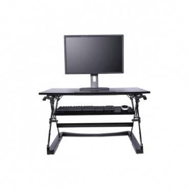Adaptivergo Sit-stand Lifting Workstation, 35.12w X 31.10d X 19.69h,black