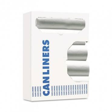 "High-density Can Liners, 10 Gal, 6 Microns, 24"" X 24"", Natural, 1,000/carton"