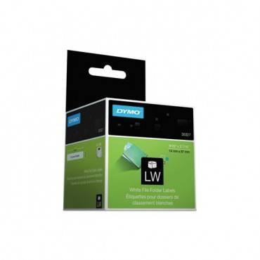 Labelwriter 1-up File Folder Labels, 9/16 X 3 7/16, White, 130/roll, 2 Rl/pk