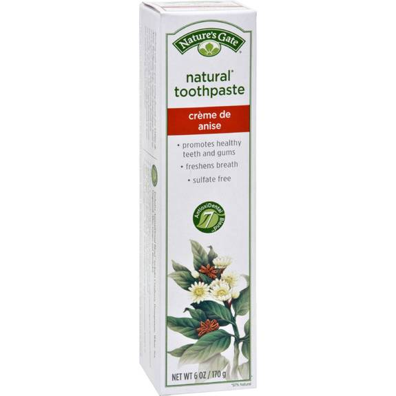 Nature S Gate Natural Toothpaste Creme De Anise 6 Oz
