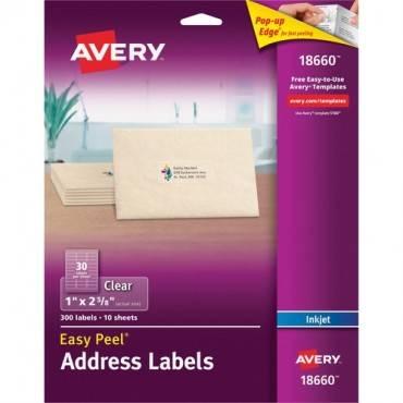 Avery® Matte Clear Easy Peel Address Labels (PK/PACKAGE)